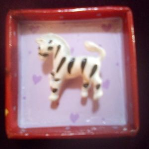 Tiny zebra brooch